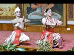 Krishnakshi Kashyap and Ramkrishna Talukdar performing in Durbar Hall Raj Bhawan, Guwahati