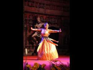 Krishnakshi performing Sattriya Dance in Nishagandhi Festival 2016 held in Thiruvananthapuram, Kerala