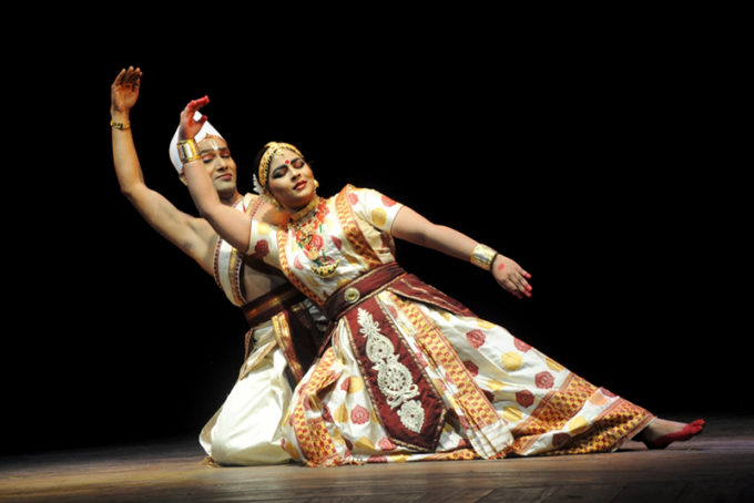 Ramkrishna Talukdar and Krishnakshi Kashyap performing Sattriya Dance , one of the classical dance form of India