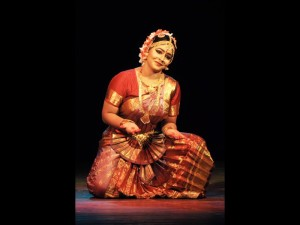 Krishnakshi performing Bharatnatyam to celebrate World Dance Day