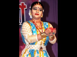 Sattriya dancer Krishnakshi Kashyap performing during the Doul Ustav in Doulgobinda Temple North Guwahati