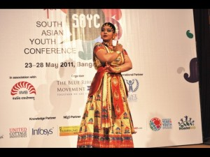 Sattriya Dance performance by Krishnakshi Kashyap in th opening ceremony of 1st SAYC held in IIMB