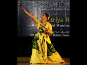 Krishnakshi performing in Shilpgram Auditorium, Guwahati sponsored by Ministry of Culture, Govt of India