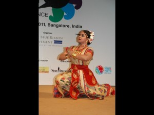 Krishnakshi in a Sattriya Dance performnace in the opening ceremony of 1st South Asian Youth Conference held in IIMB