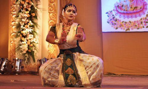 Krishnakshi performing Sattriya Dance
